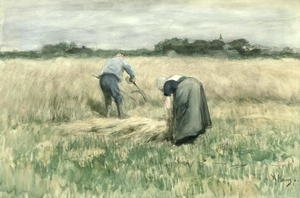 Reproduction oil paintings - Anton Mauve - The Harvest