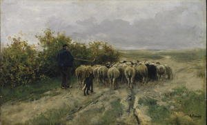 Reproduction oil paintings - Anton Mauve - Returning Home, End of the Day