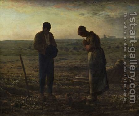 The Angelus, 1857-59 by Jean-Francois Millet - Reproduction Oil Painting