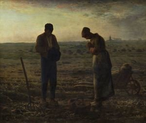 Famous paintings of Landscapes: The Angelus, 1857-59