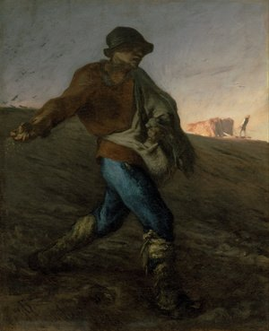 Realism painting reproductions: The Sower, 1850