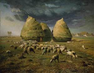 Reproduction oil paintings - Jean-Francois Millet - Haystacks, Autumn, 1873-74