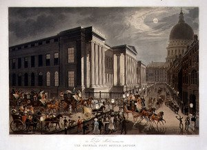 Famous paintings of Palisades: The Royal Mails Starting from the General Post Office, London