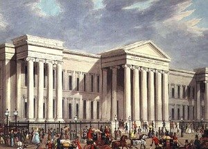 Famous paintings of Palisades: The Royal Mails departure from The General PostOffice, London