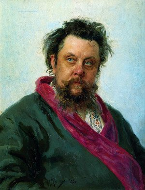 Realism painting reproductions: Composer Modest Mussorgsky