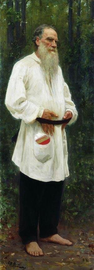 Realism painting reproductions: Portrait of Lev Tolstoy (1828-1910) 1901