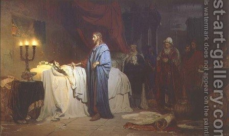The Raising of Jairus's Daughter, 1871 by Ilya Efimovich Efimovich Repin - Reproduction Oil Painting