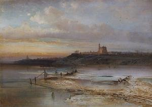 Realism painting reproductions: The Thaw, Yaroslavl, 1874