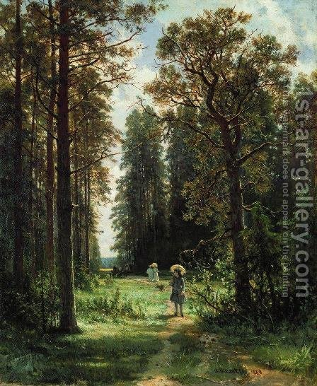 The Path through the Woods, 1880 by Ivan Shishkin - Reproduction Oil Painting