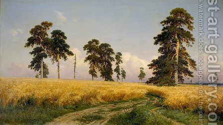 The Field of Wheat, 1878 by Ivan Shishkin - Reproduction Oil Painting