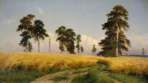 Famous paintings of Trees: The Field of Wheat, 1878