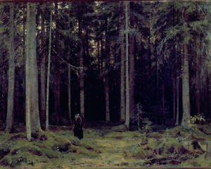 Naturalism painting reproductions: Countess Mordvinov's Forest, 1891