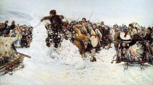 Realism painting reproductions: The Capture of the Snow Fortress, 1891