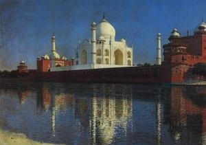 Realism painting reproductions: The Taj Mahal, 1874-76