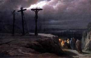Realism painting reproductions: Night at Golgotha, 1869
