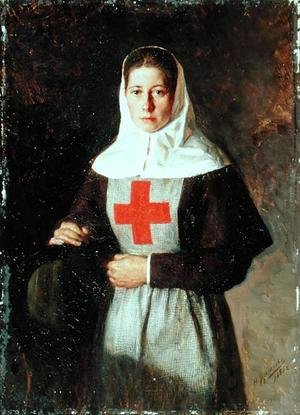 Realism painting reproductions: A Nurse, 1886