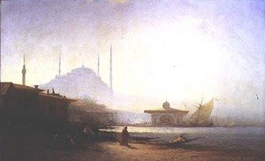 Realism painting reproductions: View of Istanbul, 1864