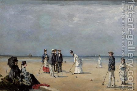 Louise Abbema: A Game of Croquet, 1872 - reproduction oil painting