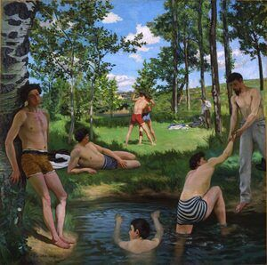 Reproduction oil paintings - Frederic Bazille - Summer Scene, 1869