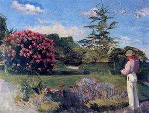 Reproduction oil paintings - Frederic Bazille - The Little Gardener, c.1866-67