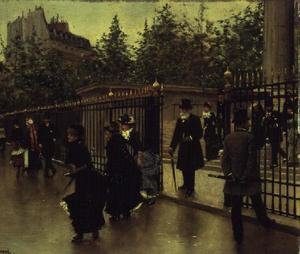 Famous paintings of Palisades: Leaving La Madeleine