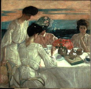 Famous paintings of Tea: Afternoon Tea on the Terrace
