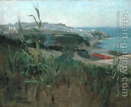 Tangier from the Dunes, 1892 by Alexander Mann - Reproduction Oil Painting