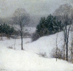 Reproduction oil paintings - Willard Leroy Metcalf - The White Veil, 1909