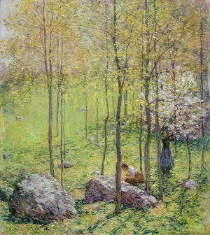 Reproduction oil paintings - Willard Leroy Metcalf - Dogwood Blossoms, 1906