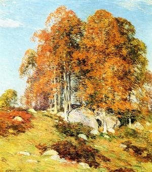 Reproduction oil paintings - Willard Leroy Metcalf - Early October, 1906