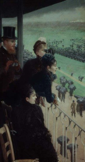 Famous paintings of Sport and Games: The Races at Auteuil