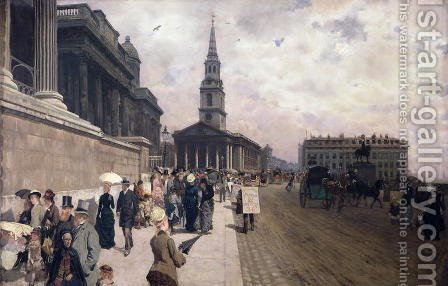 The National Gallery, London by Giuseppe de Nittis - Reproduction Oil Painting