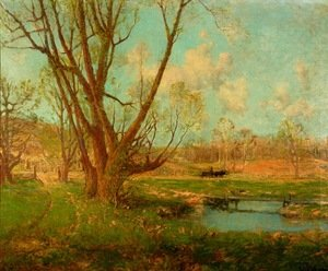 Reproduction oil paintings - Julian Onderdonk - The Farm on a Spring Day