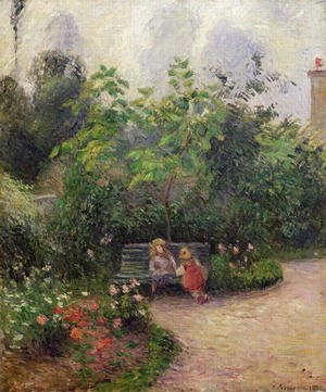Reproduction oil paintings - Camille Pissarro - A Corner of the Garden at the Hermitage, Pontoise, 1877