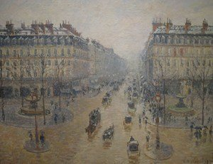 Famous paintings of Squares and Piazzas: Avenue de L'Opera, Paris, 1898
