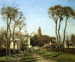 Reproduction oil paintings - Camille Pissarro - Entrance to the Village of Voisins, Yvelines, 1872