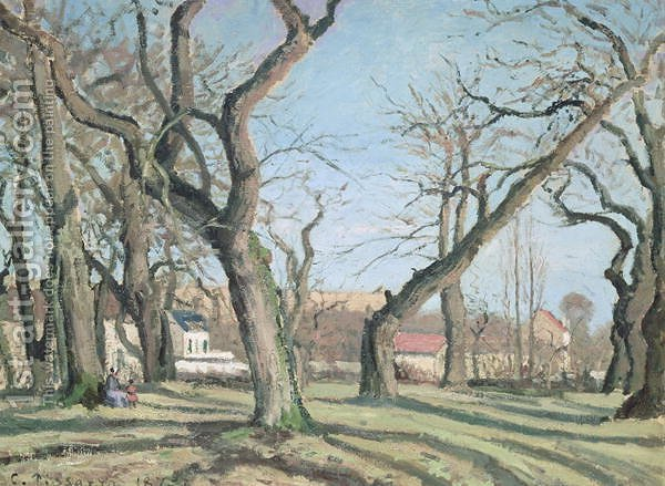 Huge version of Chestnut Trees at Louveciennes, 1872