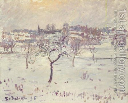 Camille Pissarro: Snowy Landscape at Eragny with an Apple Tree, 1895 - reproduction oil painting