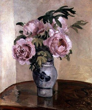 Famous Paintings in Ashmolean Museum, Oxford, UK: A Vase of Peonies 1875