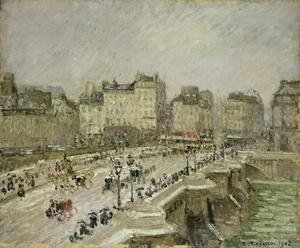 Famous paintings of Paris: Pont Neuf, Snow Effect, 2nd Series, 1902