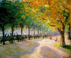 Reproduction oil paintings - Camille Pissarro - Hyde Park, London, 1890