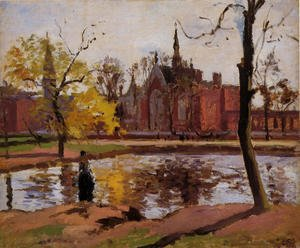 Famous paintings of Villages: Dulwich College, London, 1871