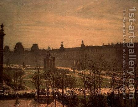 Camille Pissarro: The Tuileries, 1899 - reproduction oil painting