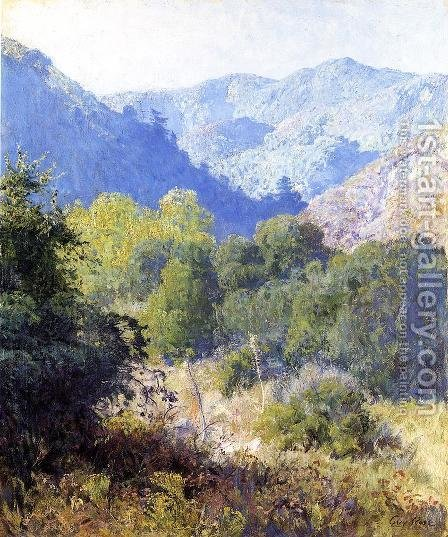 View of the San Gabriel Mountains by Guy Rose - Reproduction Oil Painting