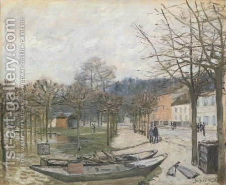 The Flood at Port-Marly, 1876 by Alfred Sisley - Reproduction Oil Painting