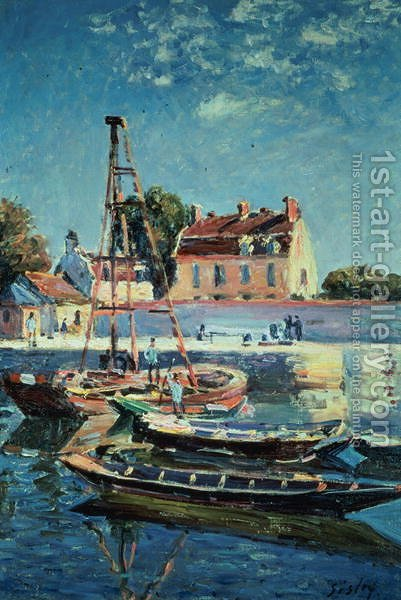 Sailing Boats, c.1885 by Alfred Sisley - Reproduction Oil Painting