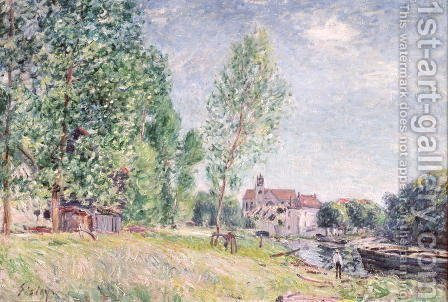 The Builder's Yard at Matrat, Moret-sur-Loing by Alfred Sisley - Reproduction Oil Painting