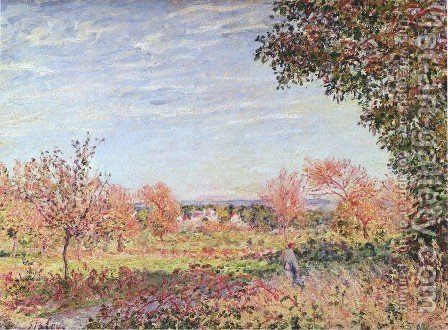 Alfred Sisley: September Morning, c.1887 - reproduction oil painting