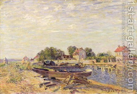 The Loing at Saint-Mammes, 1885 2 by Alfred Sisley - Reproduction Oil Painting