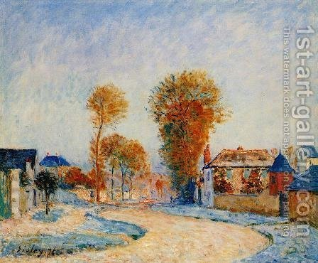 The First White Frost, 1876 by Alfred Sisley - Reproduction Oil Painting